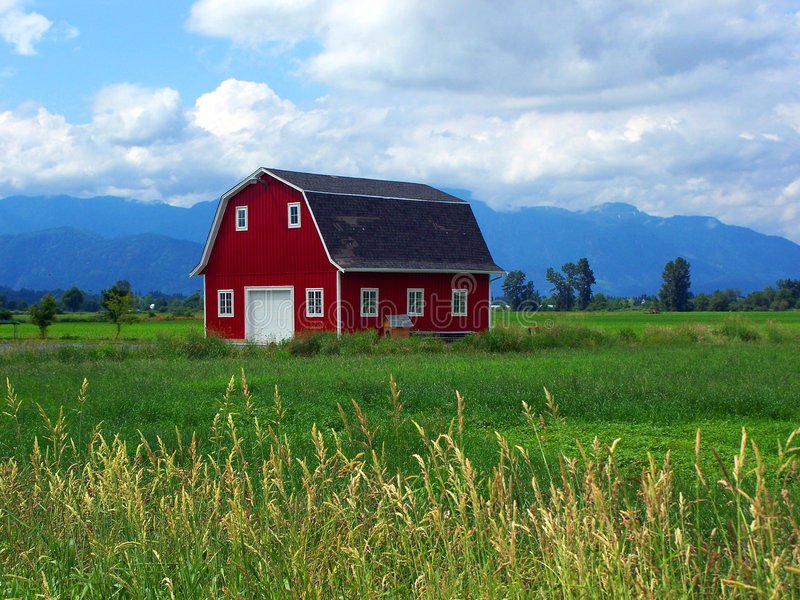 czerwony barn zdjęcie royalty free