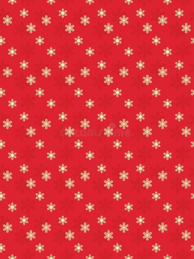 Czerwony bezszwowy Bożenarodzeniowy tło ilustracja wektor