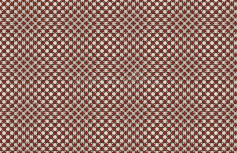 Czerwony Bia?y Bezszwowy Abstrakcjonistyczny Ma?y Deseniowy projekt royalty ilustracja