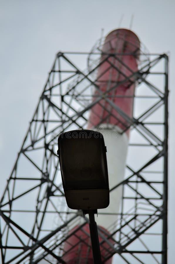 Czerwony Biały komin obrazy royalty free