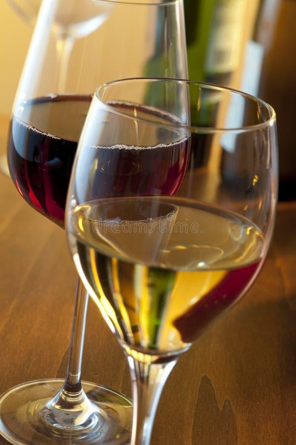 czerwony biały wino zdjęcie stock