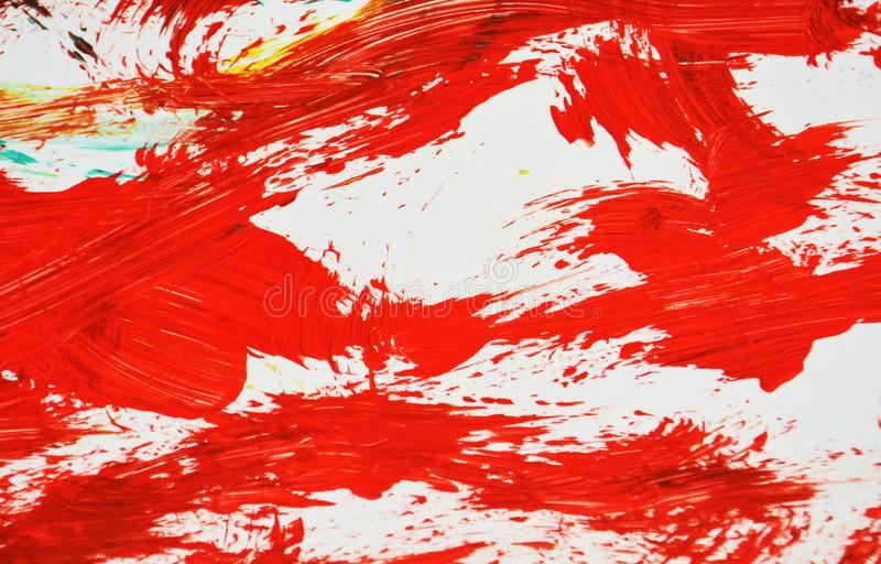 Czerwony biały zamazany obraz akwareli tło, abstrakcjonistyczny obraz akwareli tło fotografia royalty free