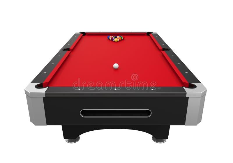 Czerwony bilardowy stół ilustracja wektor