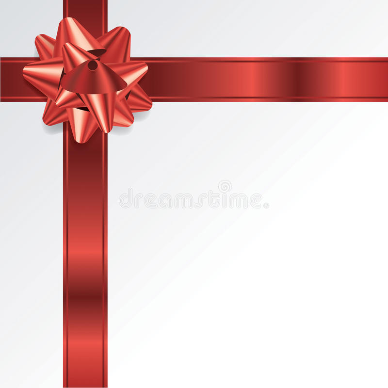 Czerwony Bożenarodzeniowy Wakacyjny łęku i faborku tło ilustracji