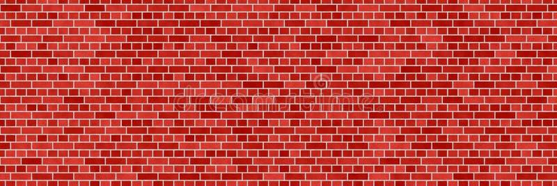 Czerwony brąz ściany z cegieł abstrakta tło Tekstura cegły ilustracja wektor