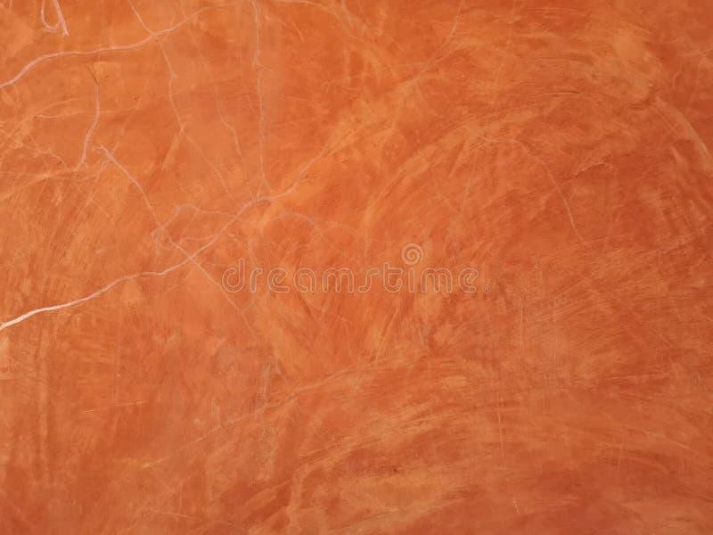 Czerwony brązu koloru obraz z białą narys linią na nawierzchniowej moździerzowej betonowej ściany teksturze, abstrakcjonistyczny  fotografia royalty free