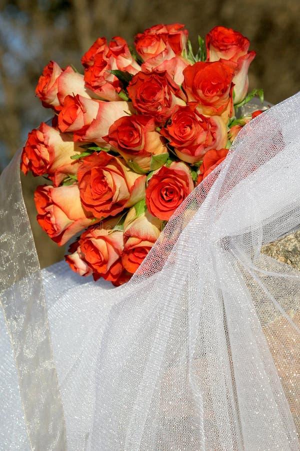 czerwony bukiet. obraz royalty free
