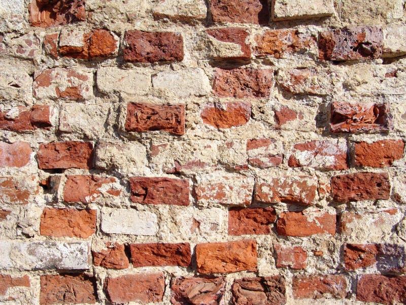 czerwony cegły zgnieciony zdjęcia stock