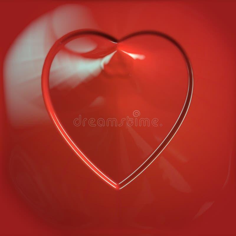 Czerwony ceramiczny serce royalty ilustracja