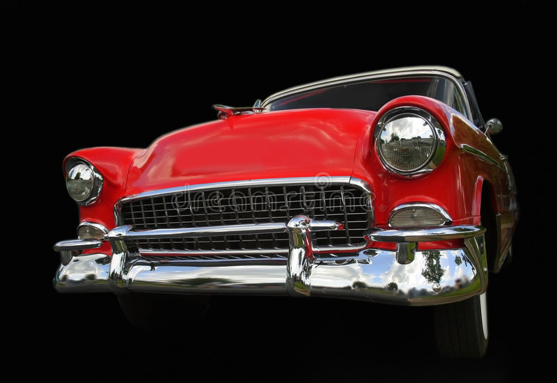 czerwony chevy samochodów fotografia stock