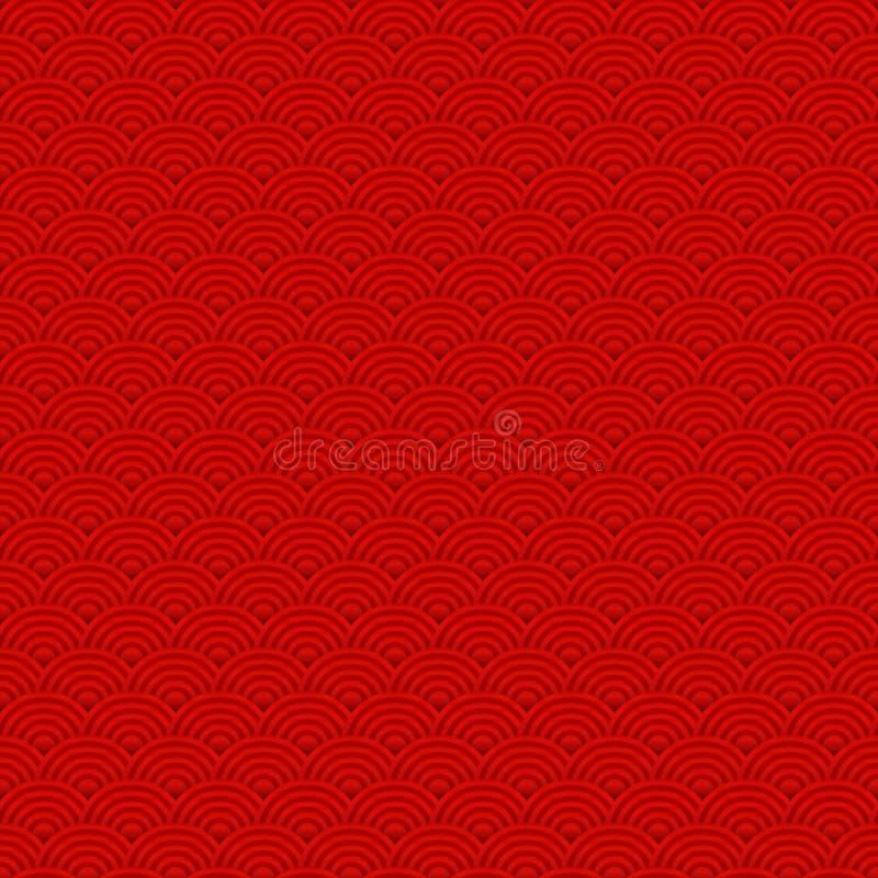 Czerwony Chiński tło wzór dla nowy rok świętowań wektoru bezszwowego ilustracja wektor