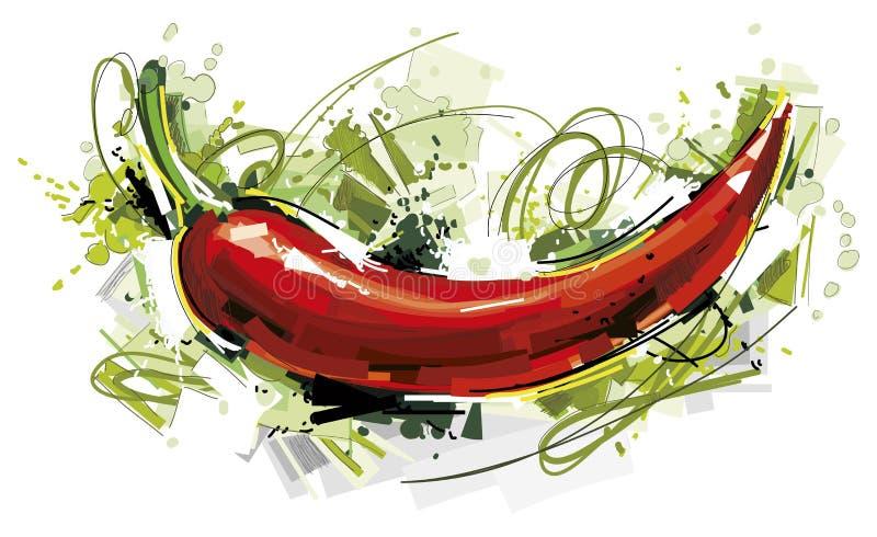 Czerwony Chili ilustracji
