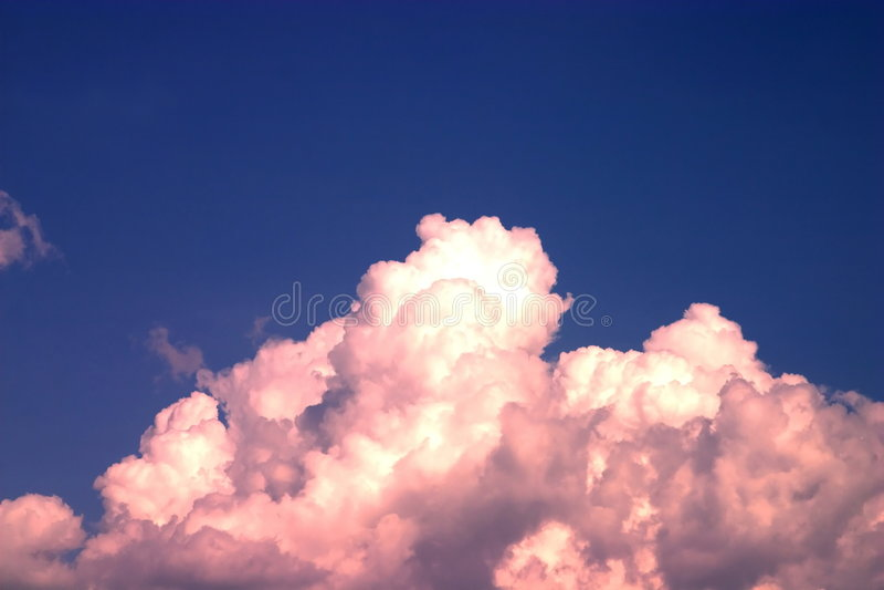 czerwony chmury obraz royalty free