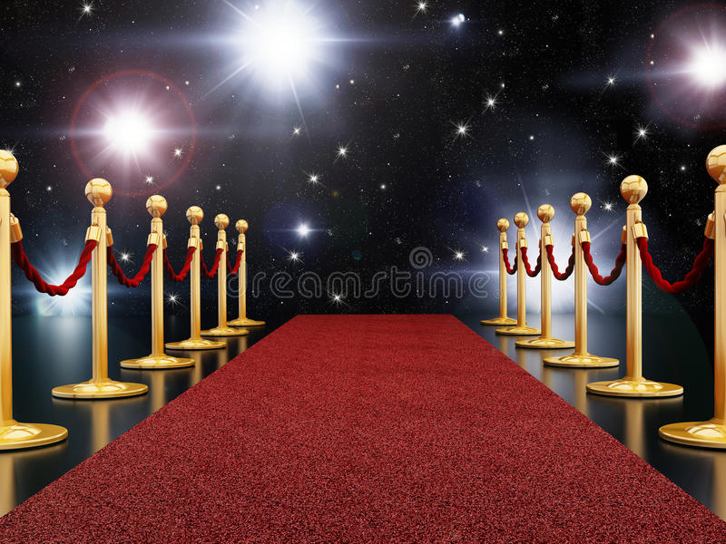 Czerwony chodnik noc