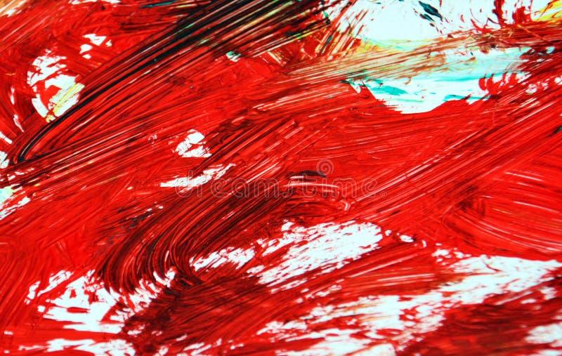 Czerwony ciemny obraz akwareli tło, abstrakcjonistyczny obraz akwareli tło fotografia stock