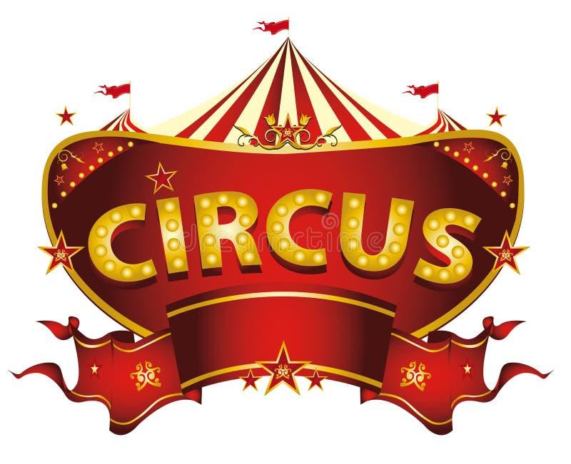 Czerwony cyrka znak ilustracja wektor