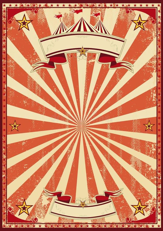 Czerwony cyrkowy retro ilustracja wektor