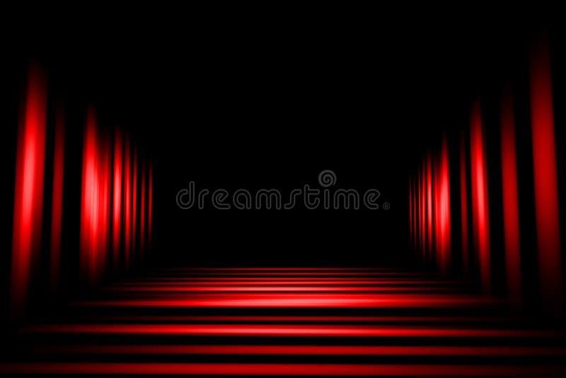 Czerwony czarny abstrakcjonistyczny t?o, lekki plamy t?o ilustracji