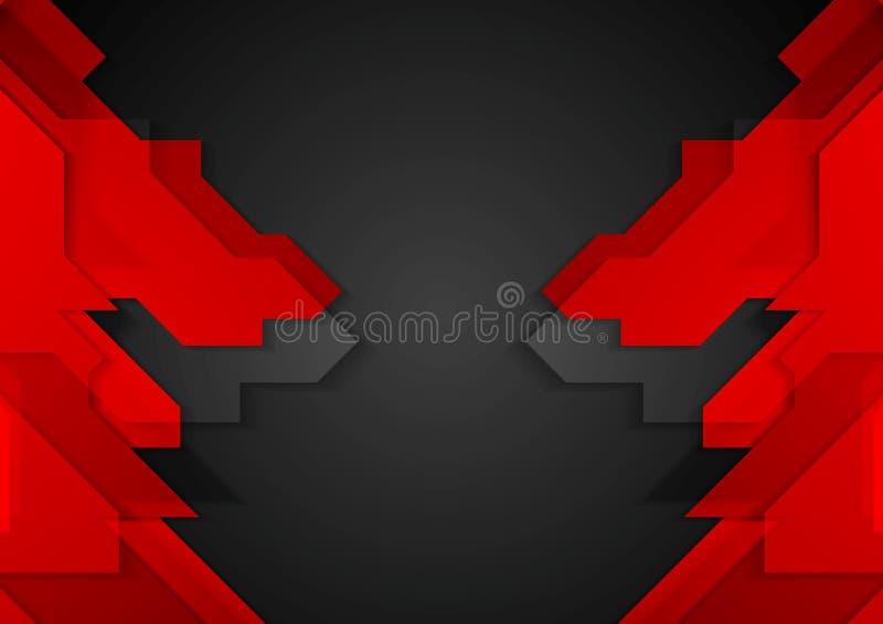 Czerwony czarny geometryczny korporacyjny tło royalty ilustracja