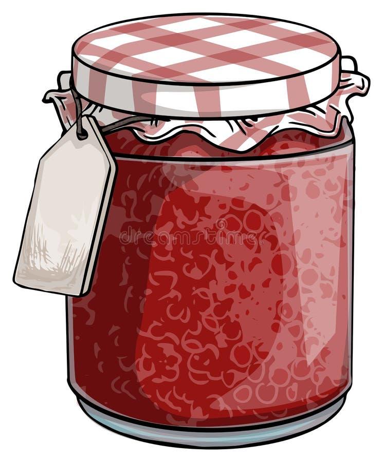 Czerwony dżem ilustracja wektor