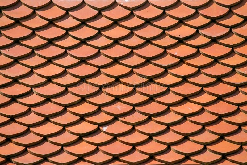 Czerwony dachowej płytki wzoru tło zdjęcia stock