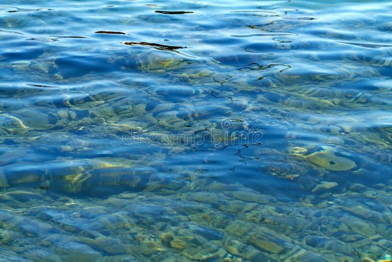 Czerwony Denny wybrzeże w lecie obraz royalty free
