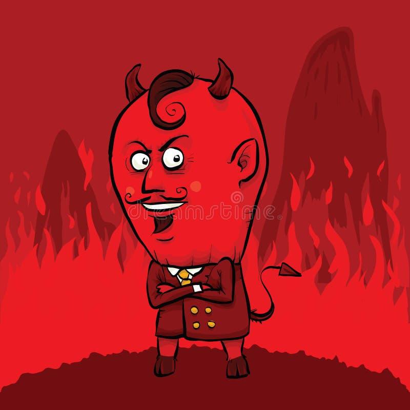 Czerwony diabeł ilustracji