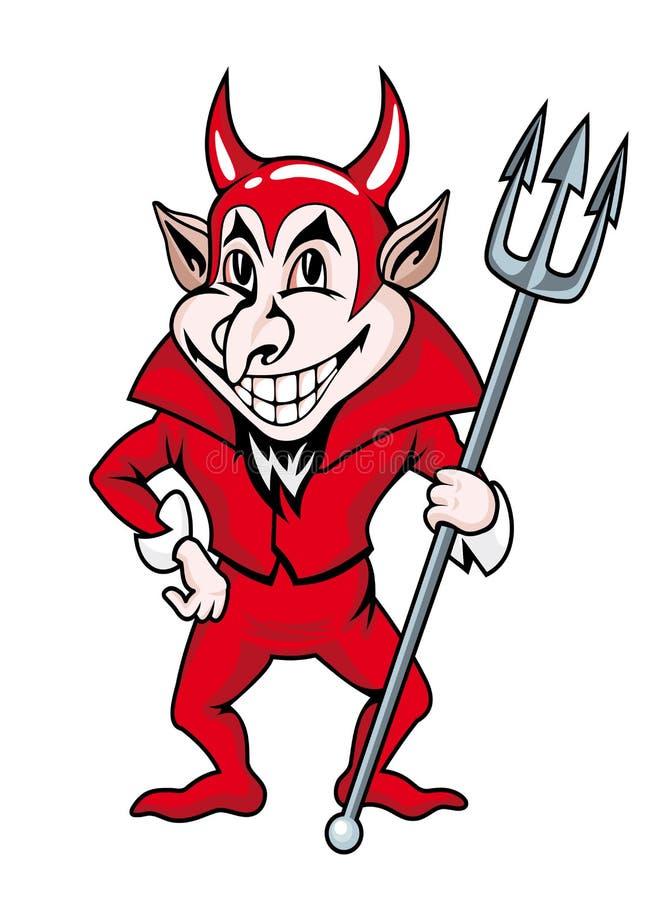 Czerwony diabeł royalty ilustracja