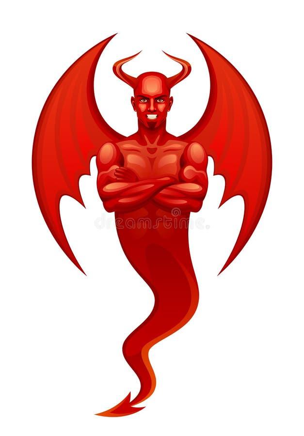 Czerwony diabeł ilustracja wektor