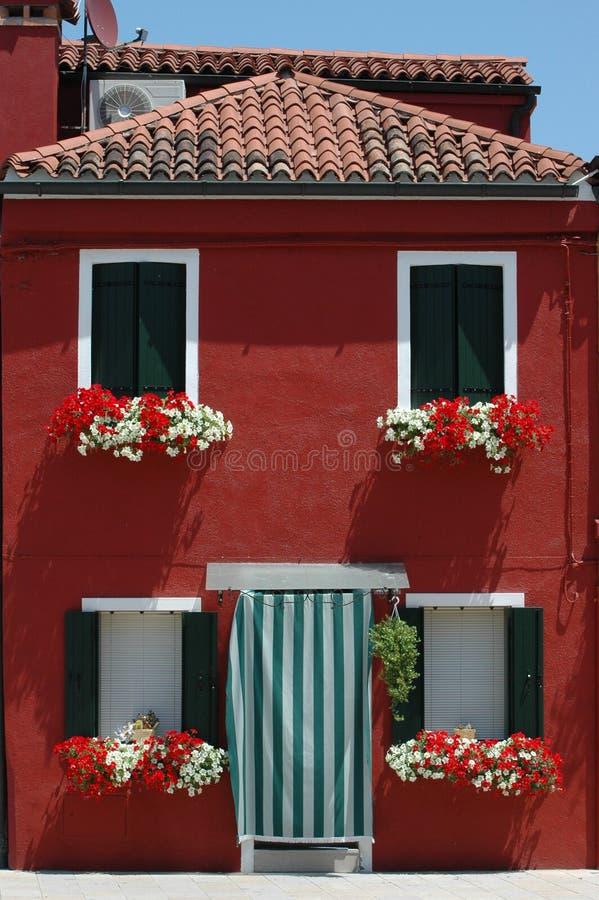 czerwony domowa obrazy stock