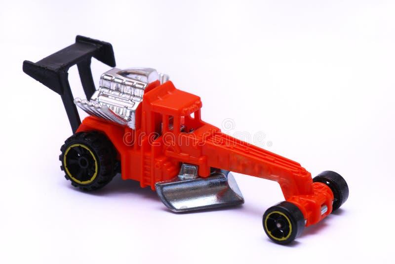 Czerwony Dragster zabawki samochód obraz stock