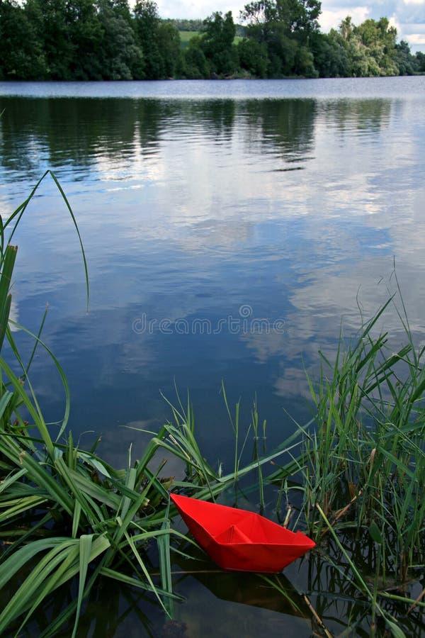 czerwony drukowany łodzi zdjęcia royalty free