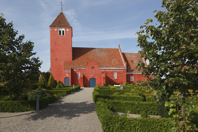 Czerwony Duński Kościół obrazy royalty free