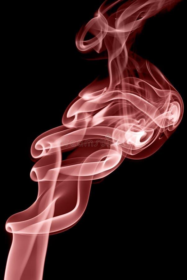 czerwony dym obrazy stock