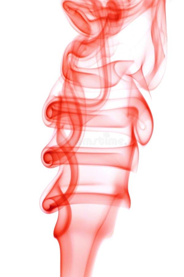 czerwony dym abstrakcyjne fotografia stock