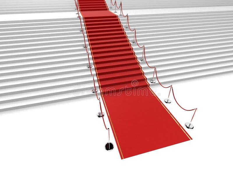 czerwony dywanowa ilustracji