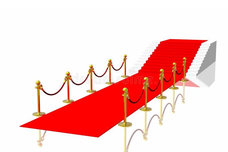 czerwony dywanowa royalty ilustracja