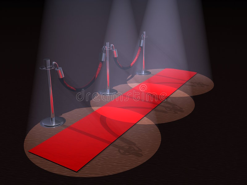 czerwony dywanowa ilustracja wektor