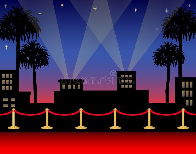 czerwony dywanowa ai Hollywood ilustracji