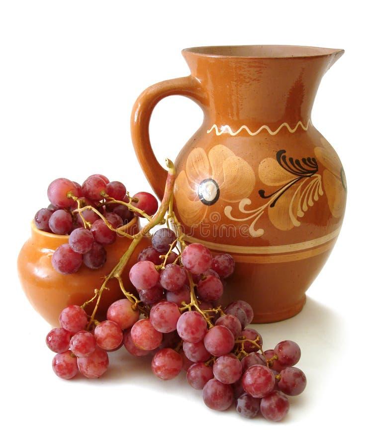 czerwony dzbanka winogron obrazy stock