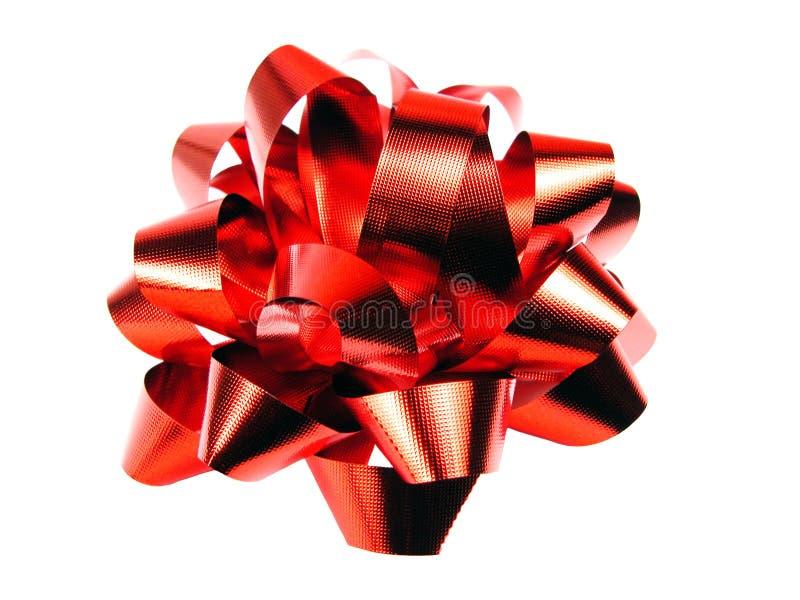 czerwony dziobu prezent fotografia stock