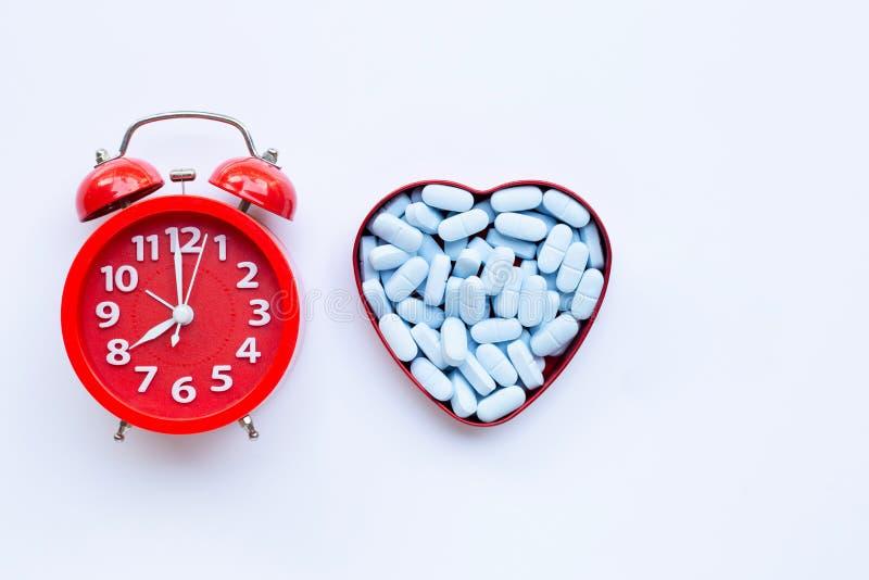 Czerwony dzwonek alarmowy z \'PrEP\' ( Profilaktyka przed narażeniem) stosowane w zapobieganiu HIV fotografia stock