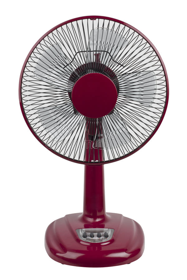 Czerwony elektryczny fan zdjęcia stock