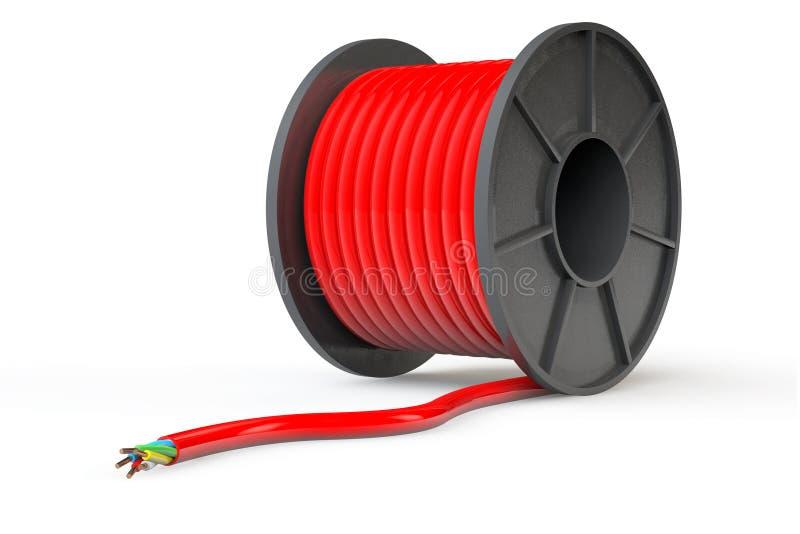 Czerwony Elektryczny kabel royalty ilustracja
