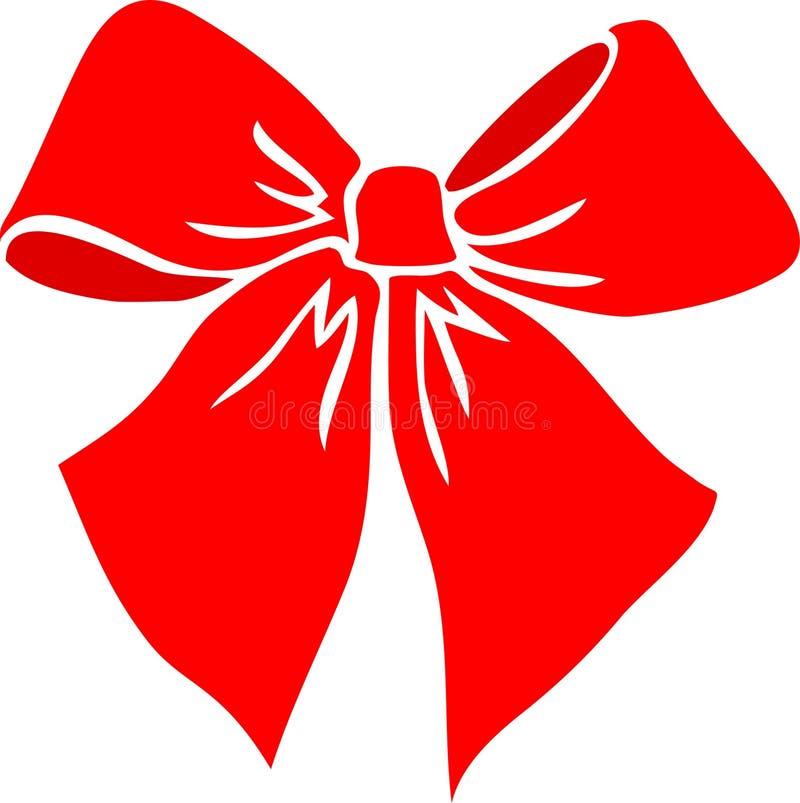 czerwony eps bow ilustracji