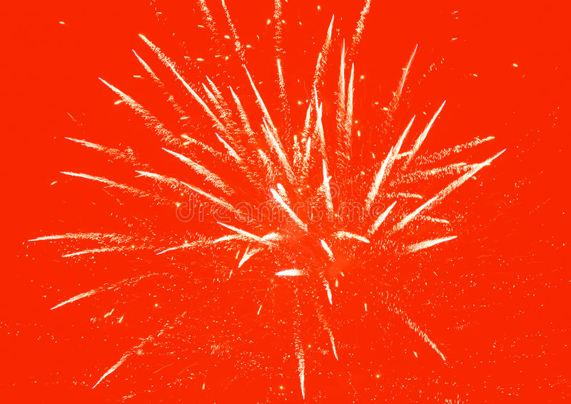 Czerwony fajerwerku tło fotografia royalty free