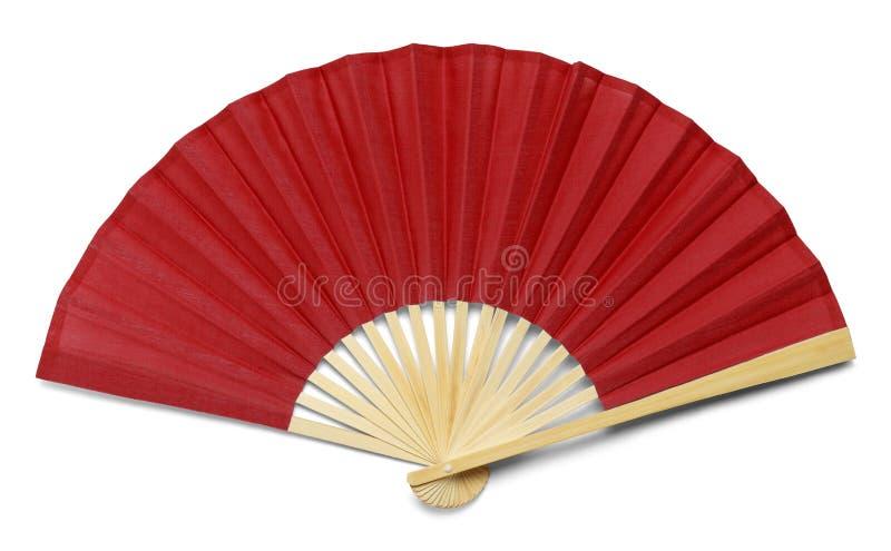Czerwony fan obraz royalty free