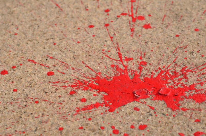 czerwony farby pluśnięcie obraz royalty free