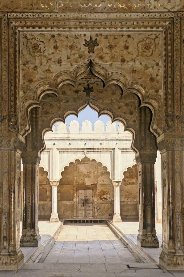 czerwony fort delhi. obraz stock