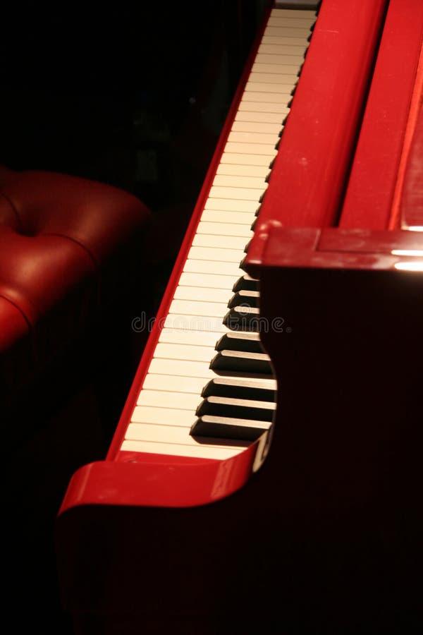 czerwony fortepianowa zdjęcia stock